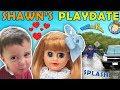 SHAWN'S 1st PLAYDATE ❤ UNLUCKY WATER SPLASHING CAR Joke! FUNnel V Skits W American Girl