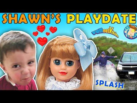 SHAWNS 1st PLAYDATE ❤ UNLUCKY WATER SPLASHING CAR Joke! FUNnel V Skits w American Girl