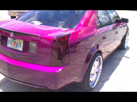 "Candy paint on Cadillac cts on 22""s  part ll"