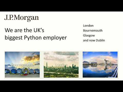 Image from PyCon UK 2017 - JP Morgan Sponsor Session