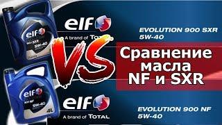 Сравнение масел ELF 5W40 NF и SXR по одобрениям и характеристикам.