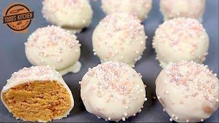 No Bake SUGAR COOKIE TRUFFLES - Christmas Recipe