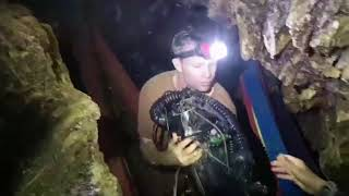 Inside Thai cave with rescue divers