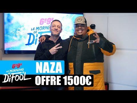 Youtube: Naza offre 1500€ à un auditeur!  #MorningDeDifool