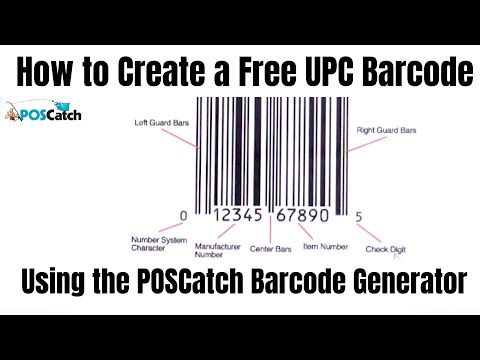 How To Create A Free UPC Barcode Using The POSCatch Barcode Generator
