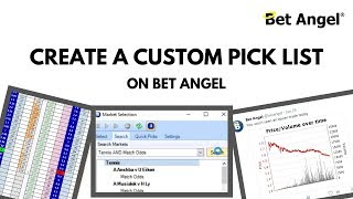 Betfair trading - Creating a custom quick pick list in Bet Angel