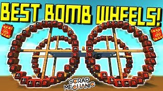 Explosive Wheels Challenge Results!  - Scrap Mechanic Gameplay