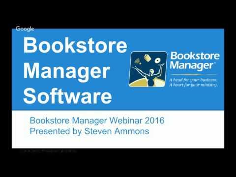 Bookstore Manager User's Webinar 2016