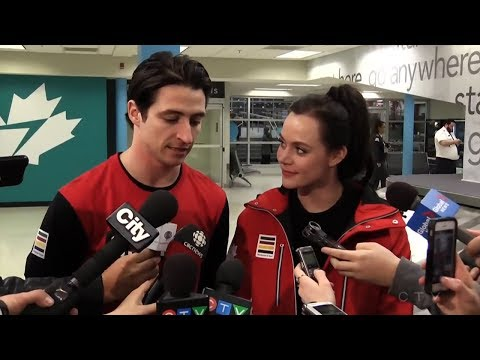 Tessa Virtue & Scott Moir Interview After Arriving Home in Canada | LIVE 2-26-18