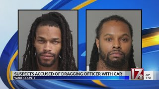 Duo nabbed after Wendell officer dragged by car, police say