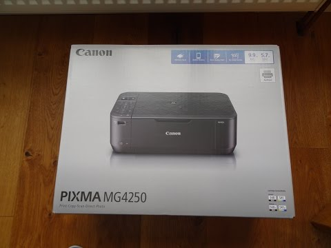 Unboxing and setup of a Canon PIXMA MG4250 All-In-One Wi-Fi