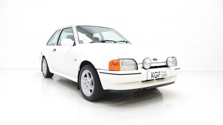 An Enthusiast Owned Ford Escort RS Turbo Series 2 with a Huge History File - SOLD!