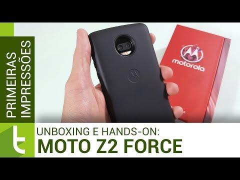 Unboxing e primeiras impressões do Moto Z2 Force Power Edition | TudoCelular.com