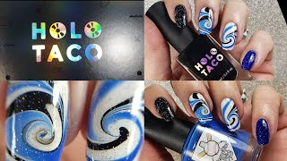 Simply Nailogical Holo Taco review vs. my favorite one coats and holos will it WATERMARBLE