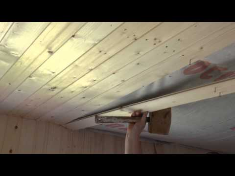 Мастер класс по обивке деревянного потолка