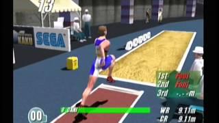 Virtua Athlete 2k (Dreamcast) - Long Jump - 9.56m