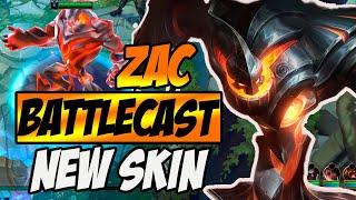 NEW SKIN ZAC BATTLECAST - GAMEPLAY LOL