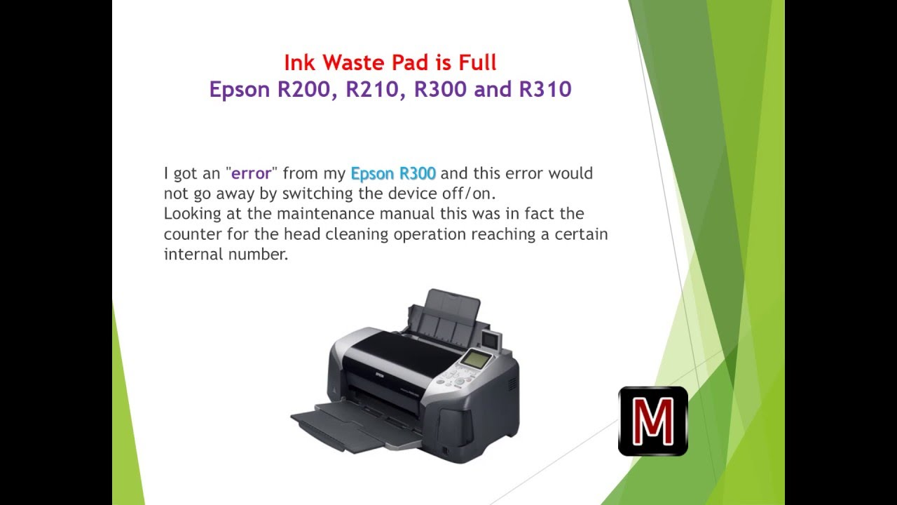 epson r200 r210 r300 and r310 ink waste pad full youtube rh youtube com stampante epson r200 manuale epson stylus r200 user manual