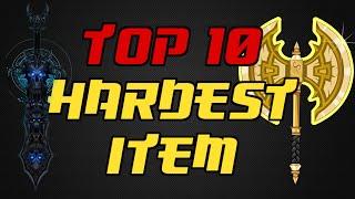 ⌠Aqw⌡ |Top 10 |【Hardest Items】
