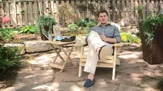 Coral Coast Big Daddy Adirondack Chair with Ottoman and cup holder - Product Review Video