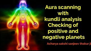 Aura scanning with kundli analysis | Checking of positive and negative planets | 7 chakras