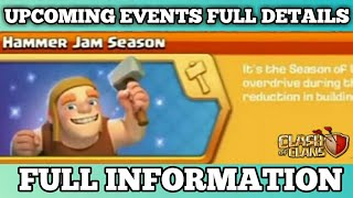 Upcoming New Events Hammer Jam Season Full Information In Clash of Clams