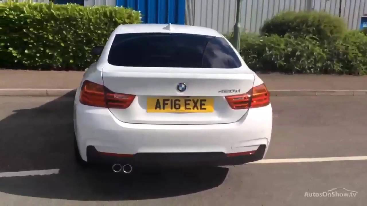 BMW 4 SERIES 420D M SPORT GRAN COUPE WHITE 2016