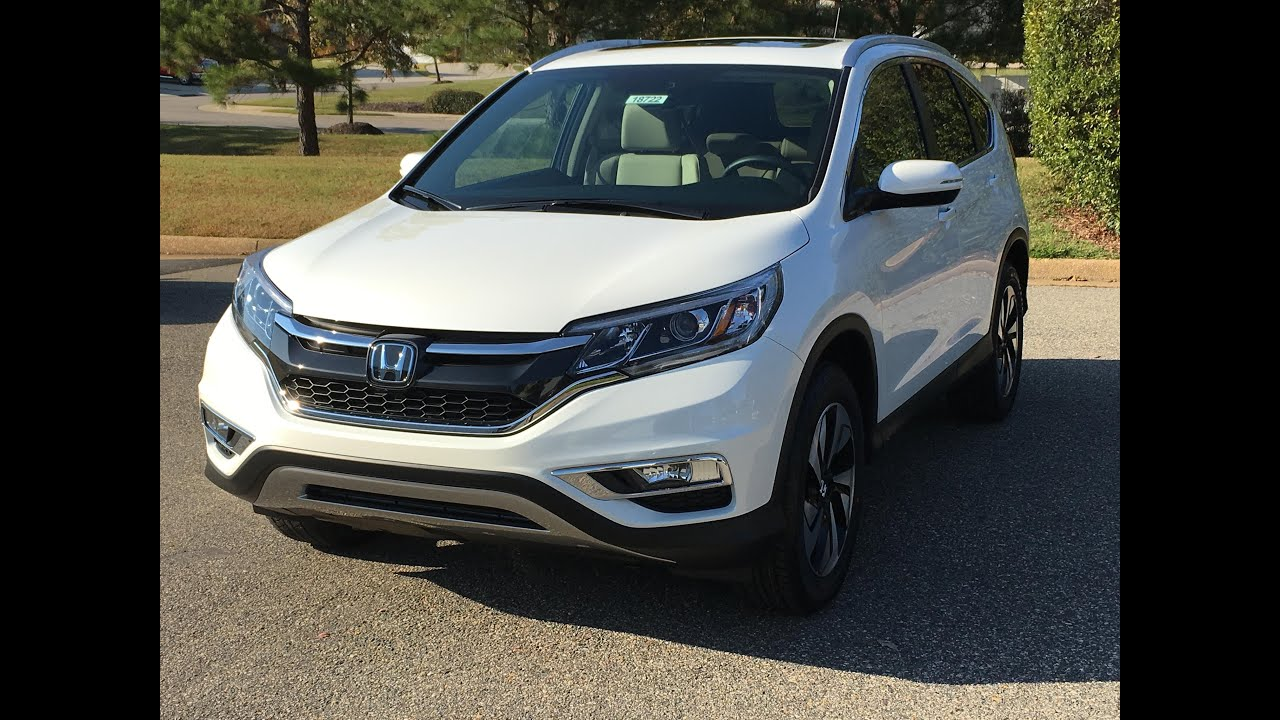 New 2016 Honda CR V Touring 2WD Walk Around Demo Just Off The Truck