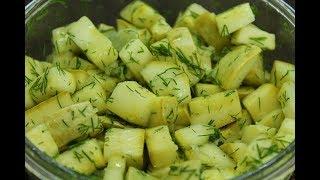 Маринованные кабачки как грибы за 20 минут: сразу кушать или на зиму / Быстрая овощная закуска