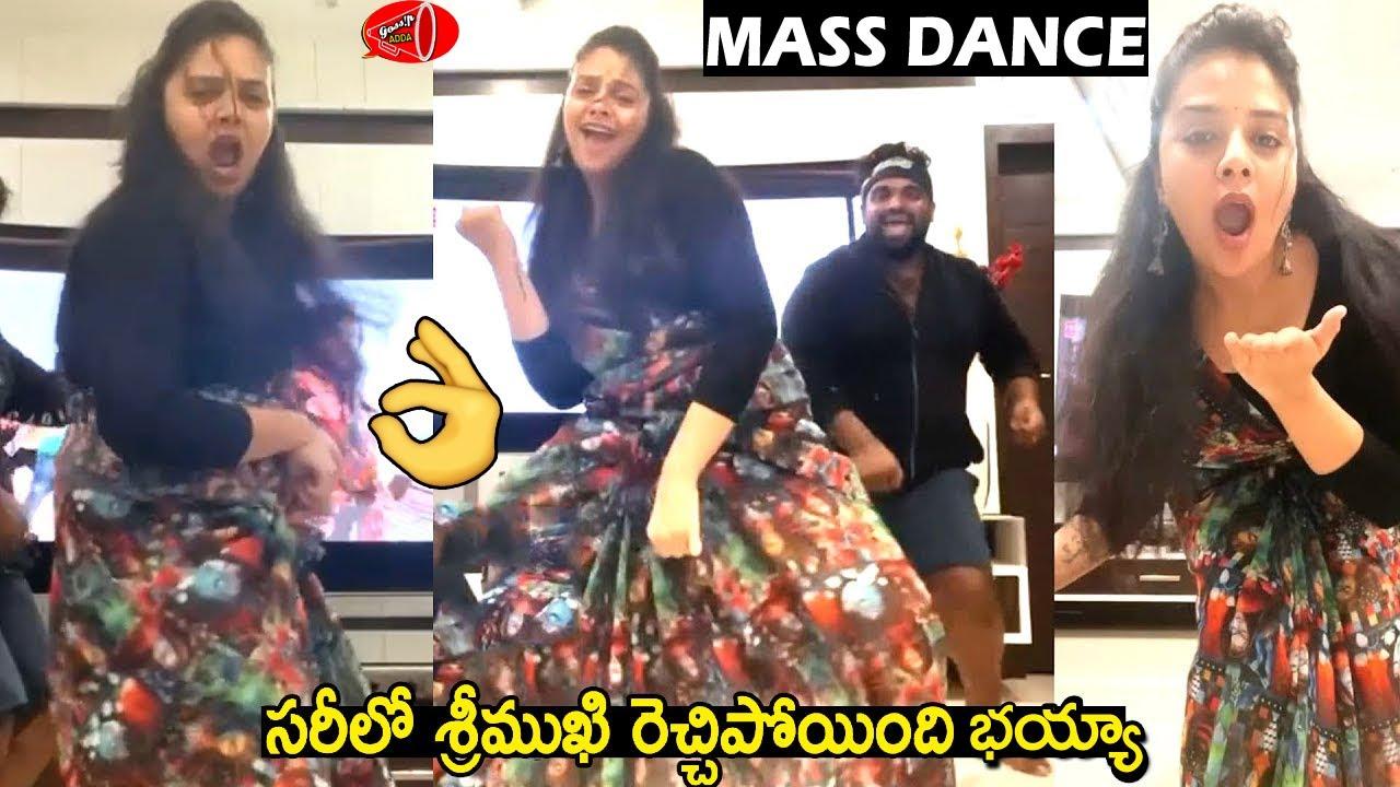 Sreemukhi Latest Dance Video   Anchor Sreemukhi Superb Mass Dance In Saree   Gossip Adda