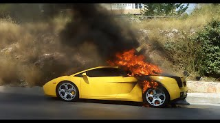 SPORTS CAR FIRE PRANK!! (DENNIS ROADY)