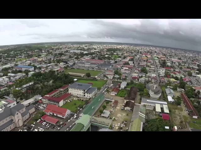 Paramaribo Surinam - From the Sky (High Quality)