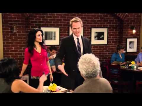 How I met your mother  Barney, in love, walks away