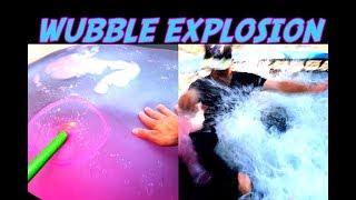 GIANT SUPER WATER WUBBLE BUBBLE EXPLOSION CHALLENGE 2017 AMAZING WUBBELS