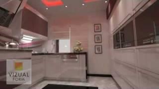 The Interior Design Of Kitchen Furniture Kitchen High Gloss