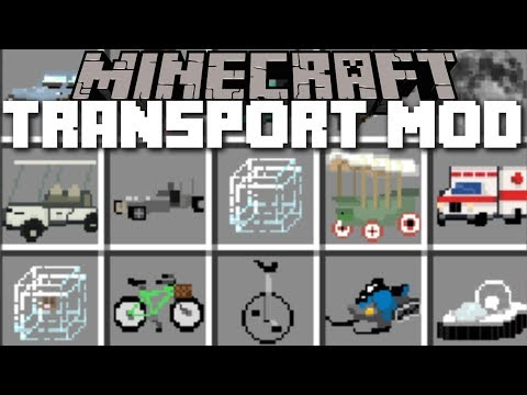 Minecraft TRANSPORTATION MOD / TRAVEL AROUND IN STYLE WITH
