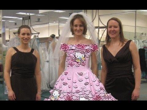 ce72002da Hello Kitty Wedding Dress - YouTube