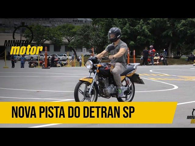 Conheça a nova pista para provas práticas de moto do Detran.SP