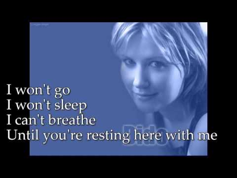 Dido - Here With Me lyrics