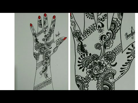 simple latest bridal mehndi designs tutorial |by Sheeba sheikh