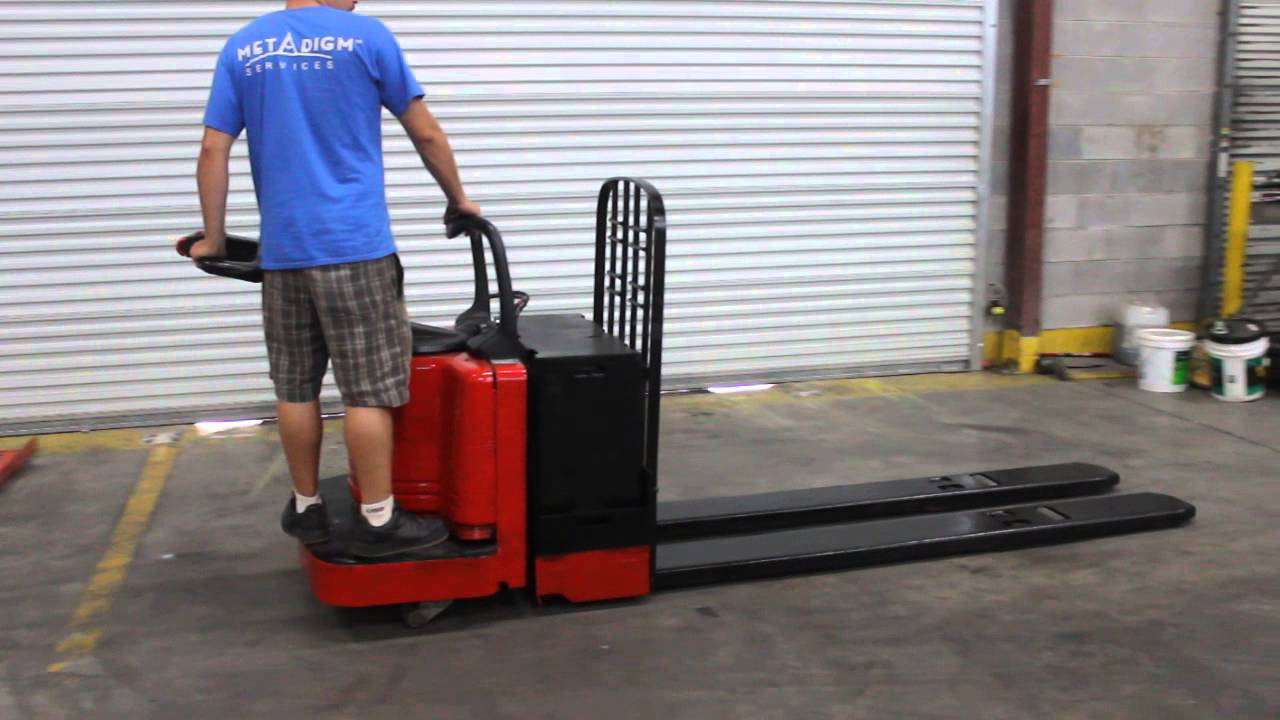Raymond Long Fork Electric Pallet Jack Youtube