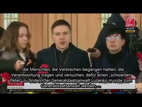 März 2018: Gefährliche Aussage von ukrainische Politikerin vor der Presse