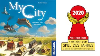 """Nominated for spiel des jahres 2020: """"my city"""" by reiner knizia (kosmos). in """"my city"""" players will be building cities and – as you can guess from the title ..."""