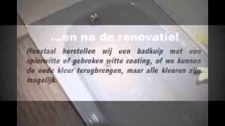 Emailleren badkuip heremailleren bad renoveren renovatie opknappen schade herstellen