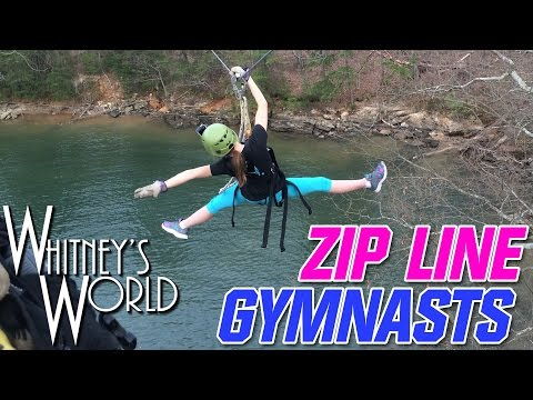 Zip Line Gymnasts | Whitney's World