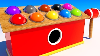 Learning Colors with 3D Wooden Balls and Hammer