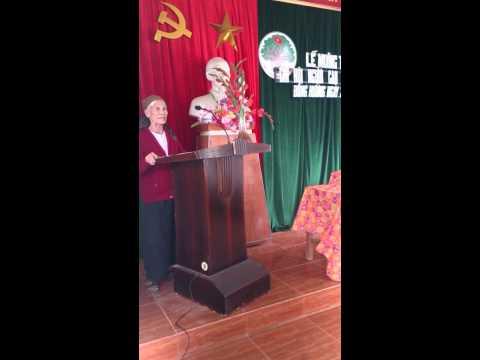Cụ bà 85t phát biểu tại lễ mừng thọ quá đỉnh!