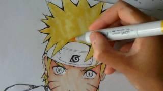 How to draw Naruto Uzumaki (うずまきナルト)