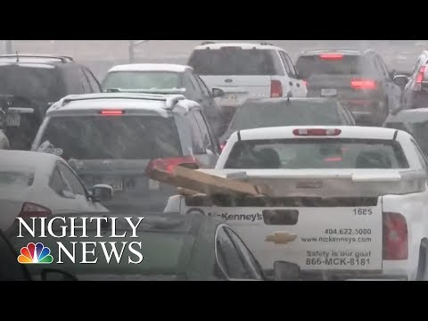 Winter Storm Takes Aim At Northeast After Dumping Snow On South | NBC Nightly News