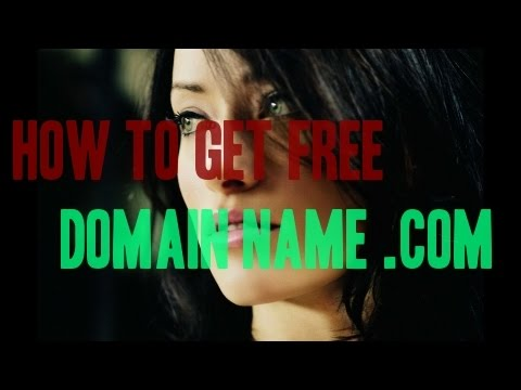 How to get free domain name .com